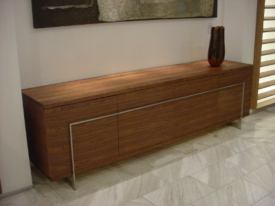 Tv meubel notenhout te koop: zwevend hangend tv meubel steigerhout
